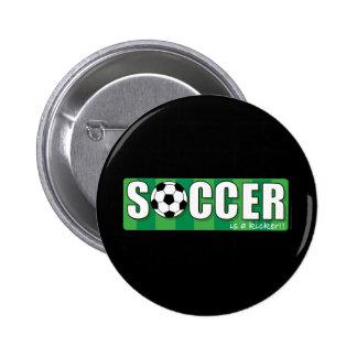 Fútbol Pin Redondo De 2 Pulgadas