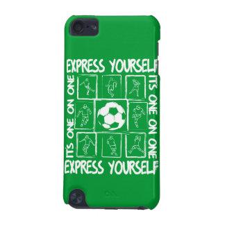 Fútbol pintado de motivación funda para iPod touch 5G