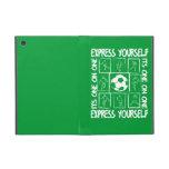 Fútbol pintado de motivación iPad mini coberturas