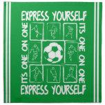 Fútbol pintado de motivación servilletas de papel