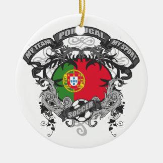 Fútbol Portugal Adornos De Navidad