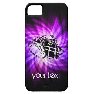 Fútbol púrpura fresco iPhone 5 carcasas