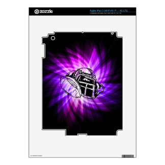 Fútbol púrpura fresco iPad 3 pegatina skin