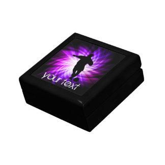 Fútbol púrpura fresco caja de regalo
