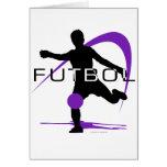 Futbol - púrpura - muchachos felicitación