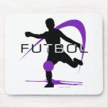 Futbol - púrpura - muchachos alfombrillas de ratones