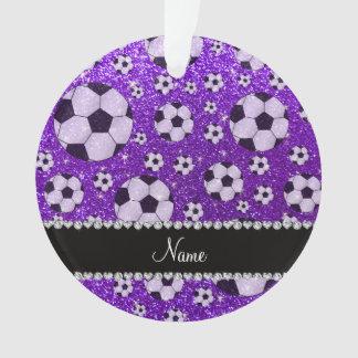 Fútbol púrpura personalizado del brillo del añil