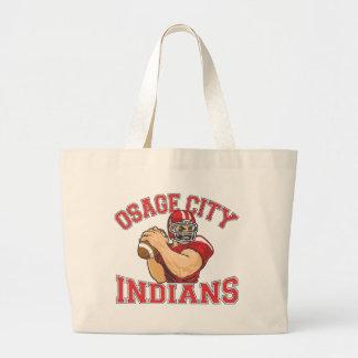 Fútbol QB de los indios de la ciudad de Osage Bolsas Lienzo
