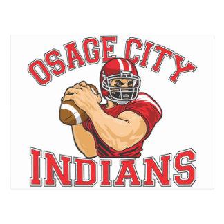 Fútbol QB de los indios de la ciudad de Osage Postal