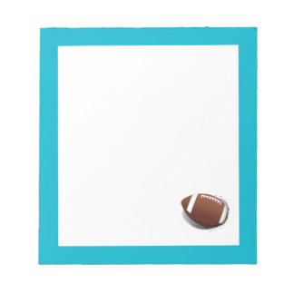 Fútbol que rasga hacia fuera bloc de notas