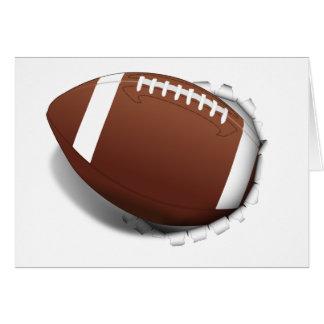 Fútbol que rasga hacia fuera tarjeta pequeña