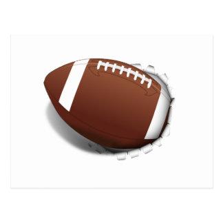 Fútbol que rasga hacia fuera tarjeta postal