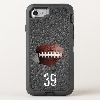 Fútbol rasgado (personalizado) funda OtterBox defender para iPhone 7