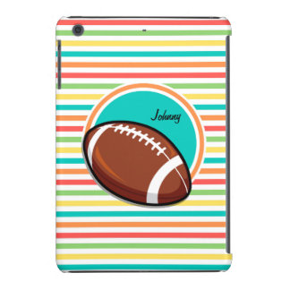 Fútbol Rayas brillantes del arco iris Funda De iPad Mini