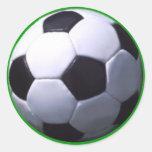 Fútbol real del fútbol pegatina