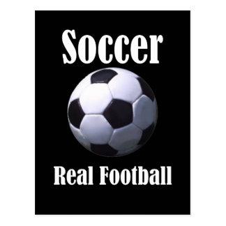 Fútbol real del fútbol postal