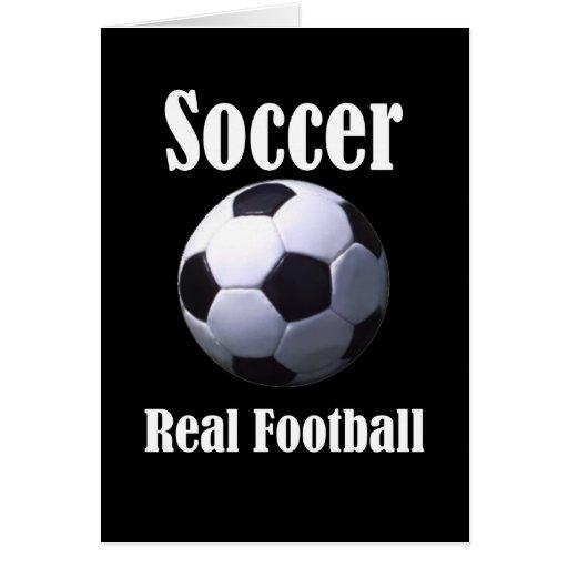 Fútbol real del fútbol tarjeta