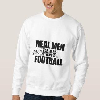 Fútbol real del reloj de los hombres sudadera