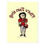 Fútbol rojo claro postales