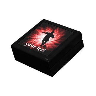 Fútbol; rojo cajas de regalo