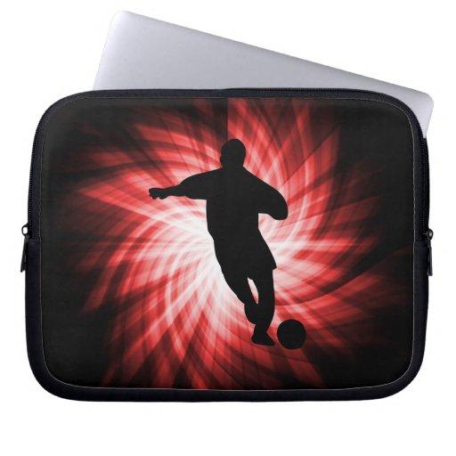 Fútbol; rojo mangas computadora