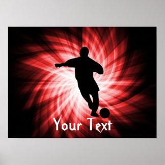Fútbol; rojo posters