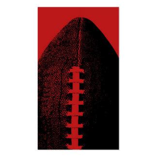 Fútbol rojo plantilla de tarjeta personal