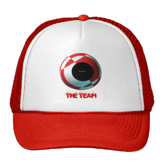 Fútbol rojo y blanco (añada su fotografía) gorra