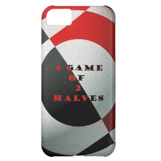 Fútbol rojo y negro funda para iPhone 5C