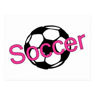 Fútbol (rosa) tarjetas postales