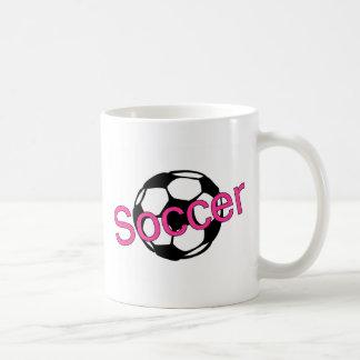 Fútbol (rosa) taza