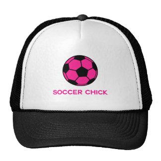 Fútbol rosado gorros