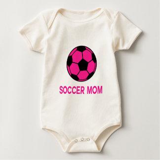 Fútbol rosado mamelucos de bebé