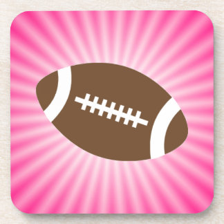 Fútbol rosado posavasos de bebidas