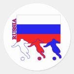 Fútbol Rusia Pegatinas Redondas
