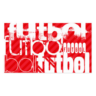 Futbol; Scarlet Red Stripes Business Card