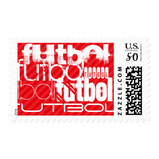 Futbol; Scarlet Red Stripes Postage
