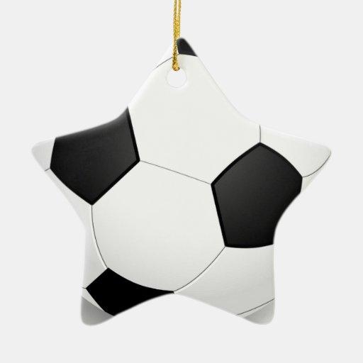 Fútbol - Soccer Baile Adorno Navideño De Cerámica En Forma De Estrella