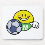 Fútbol sonriente alfombrilla de raton