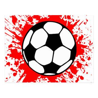 fútbol splat. postal