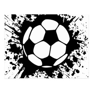 fútbol splat. tarjeta postal