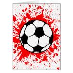 fútbol splat. tarjetas