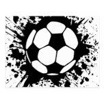 fútbol splat. tarjetas postales