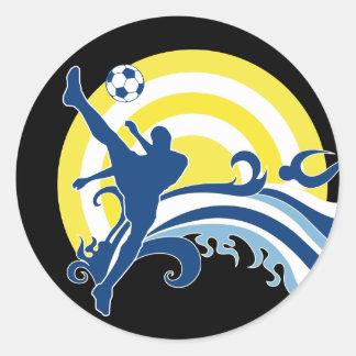 fútbol summersetz. pegatina redonda