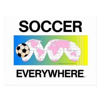 Fútbol SUPERIOR por todas partes Postal