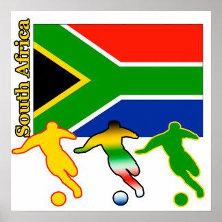 Fútbol Suráfrica Póster