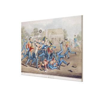 Fútbol T34890, grabado por la caza de George, 1827 Lienzo Envuelto Para Galerías