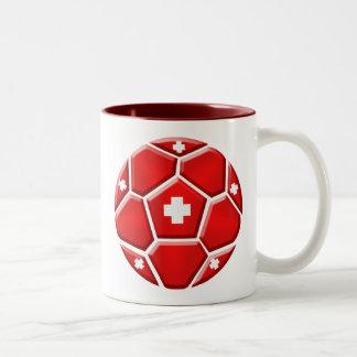 Fútbol T de los fanáticos del fútbol del fútbol de Taza De Dos Tonos