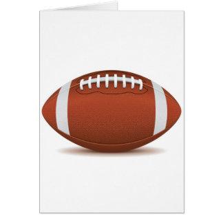 fútbol tarjeta de felicitación