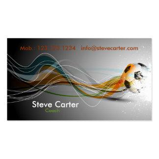 Fútbol/tarjeta de visita del entrenador de fútbol/